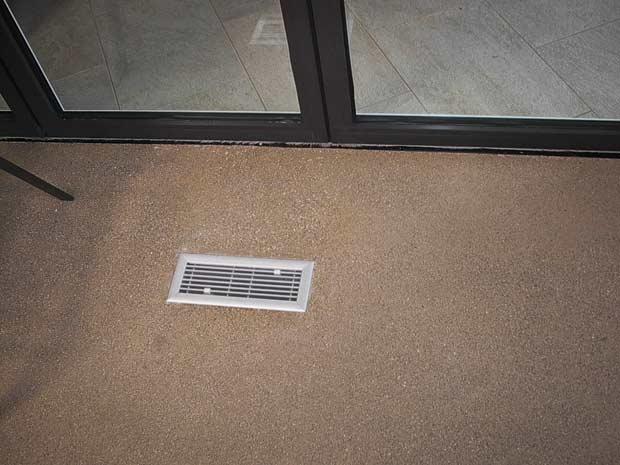 All aluminum floor registers