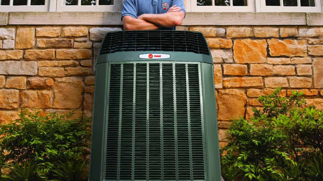 Trane AC Unit with installer Custom Air Heating and Cooling Columbus