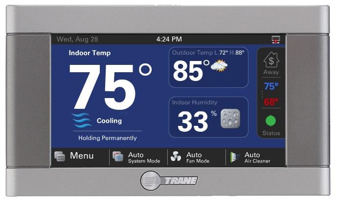 Trane XL824 Smart Control Thermostat.