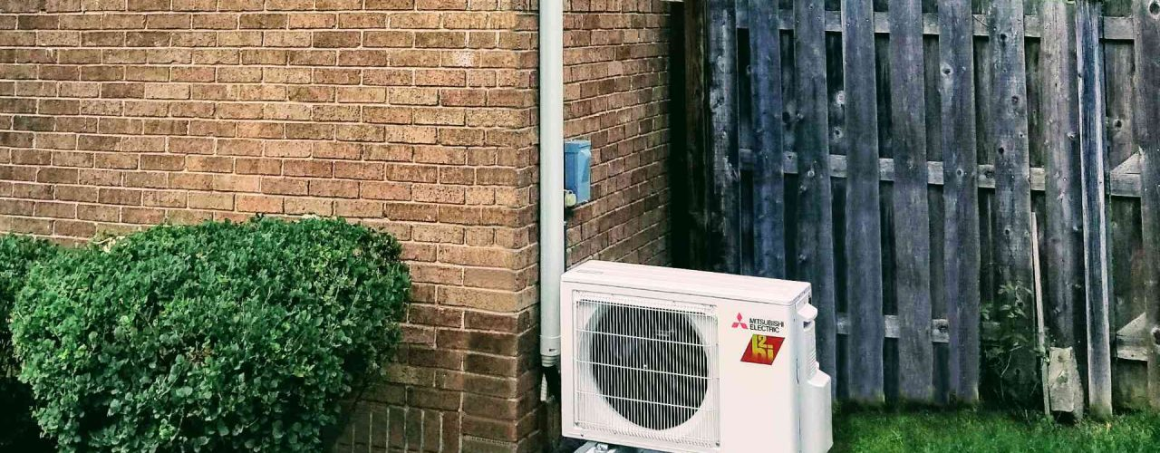 Mitsubishi Heat Pump Outside House