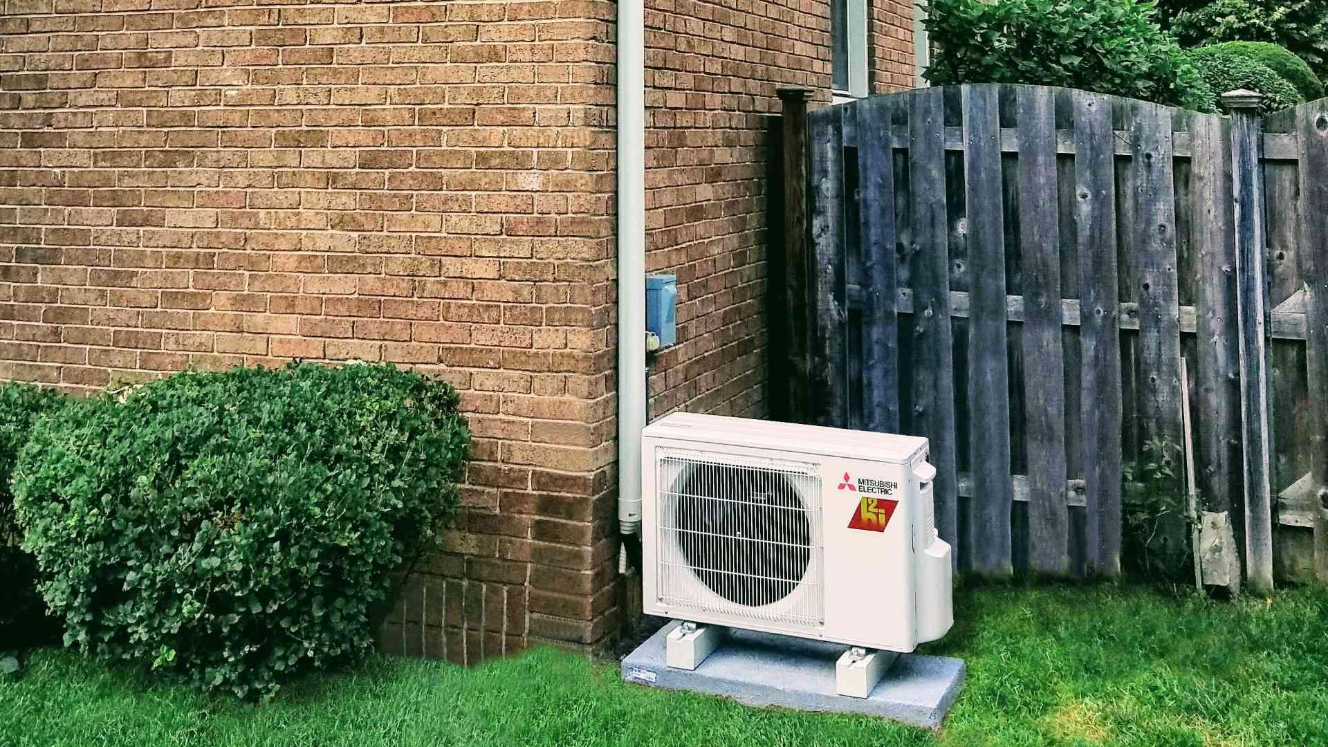 Mitsubishi Heat Pump Outside House