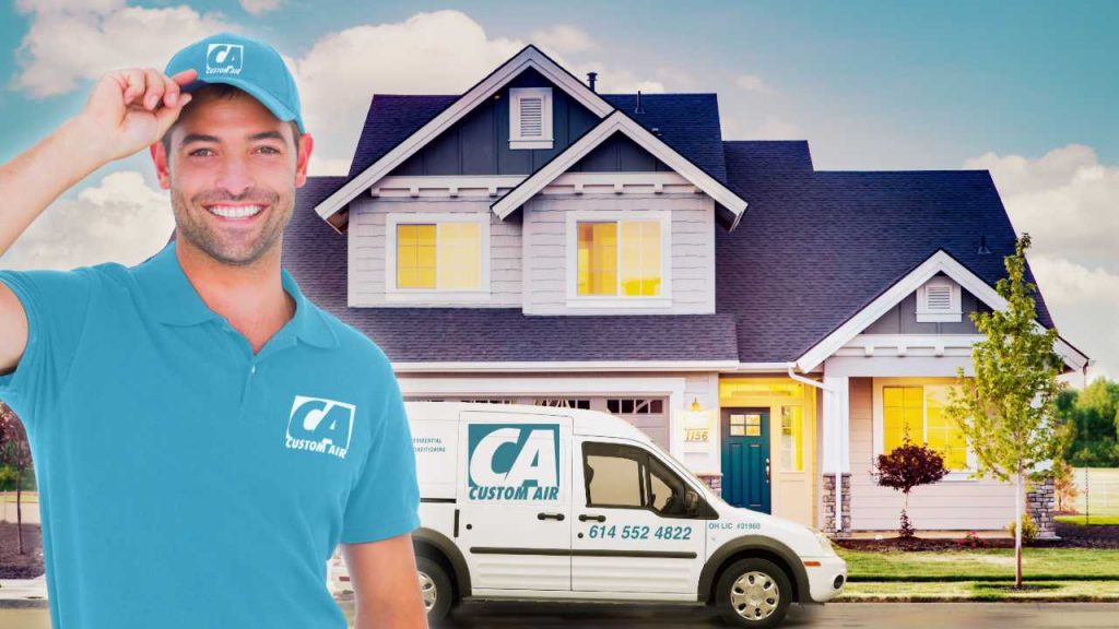 Installer Custom Air Service Van House