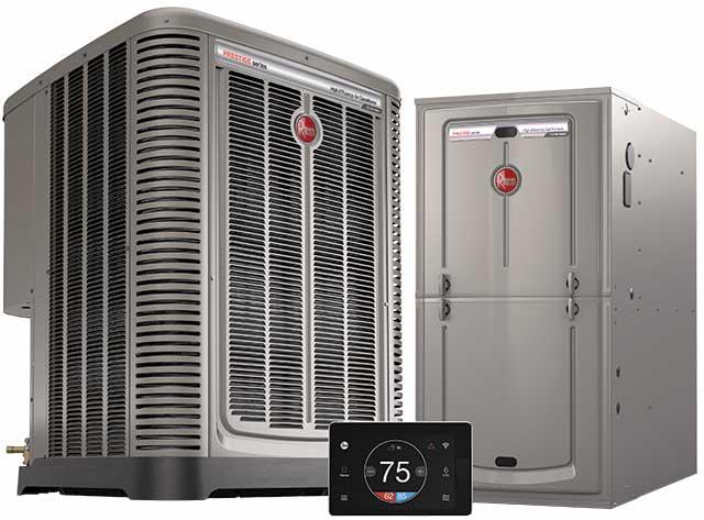 Rheem HVAC Prestige 90 AC and Furnace Econet 640